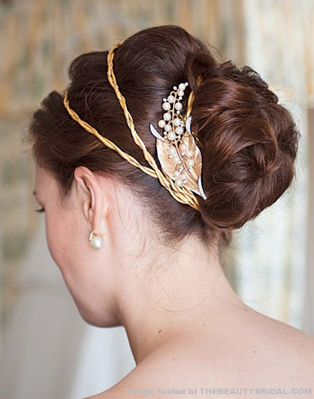 Modern Wedding Hairstyles With Bun