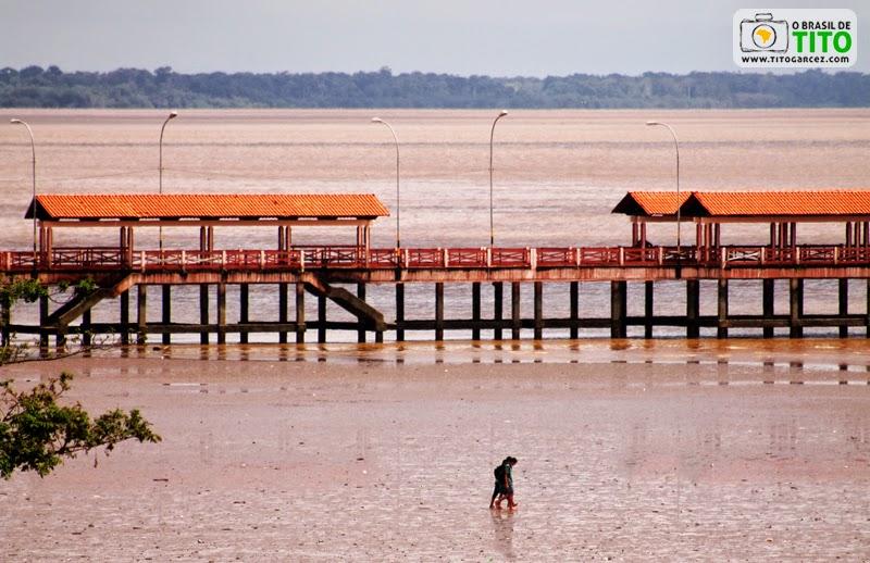 Rio Amazonas, Trapiche Eliezer Levy e lama que é utilizada para o Futebol na Lama em Macapá, no Amapá