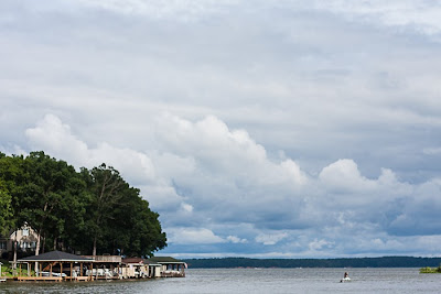 clouds over Lake Tillery