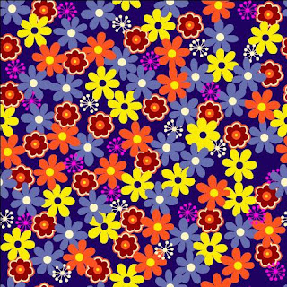 fabric pattern with different flowers