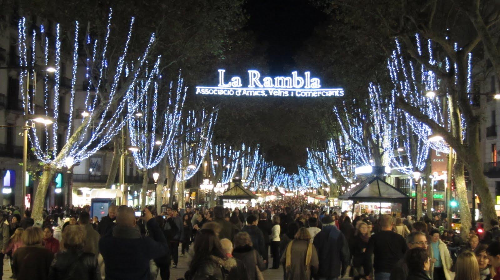 Where Is Darren Now? Christmas Lights In Barcelona - Christmas Lights In La