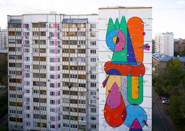 Street Art By Sixes Paredes For LGZ Festival In Moscow, Russia. 2