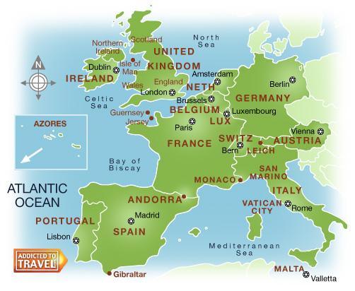 carte europe de l'ouest