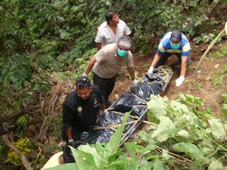 Encuentran ejecutado en un barranco al lado de carretera Cosoleacaque-Minatitlán