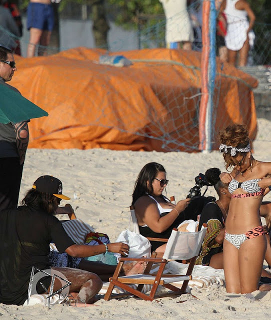 Rihanna - Bikini Candids at a the Beach in Rio De Janeiro