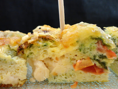 FRITTATA AUX COURGETTE, TOMATE ET FROMAGE