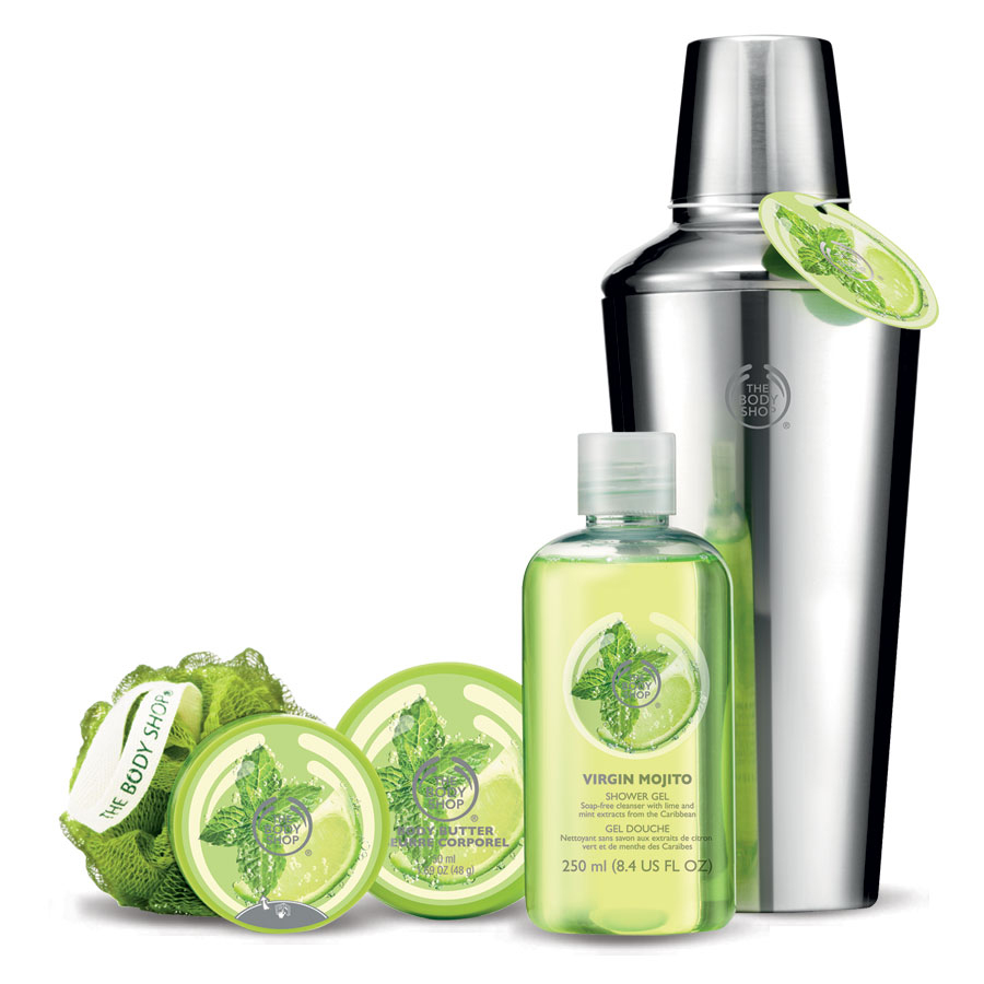 the body shop, limited edition, virgin mojito, body care, virgin mojito collection, body soap, body wash, body butter