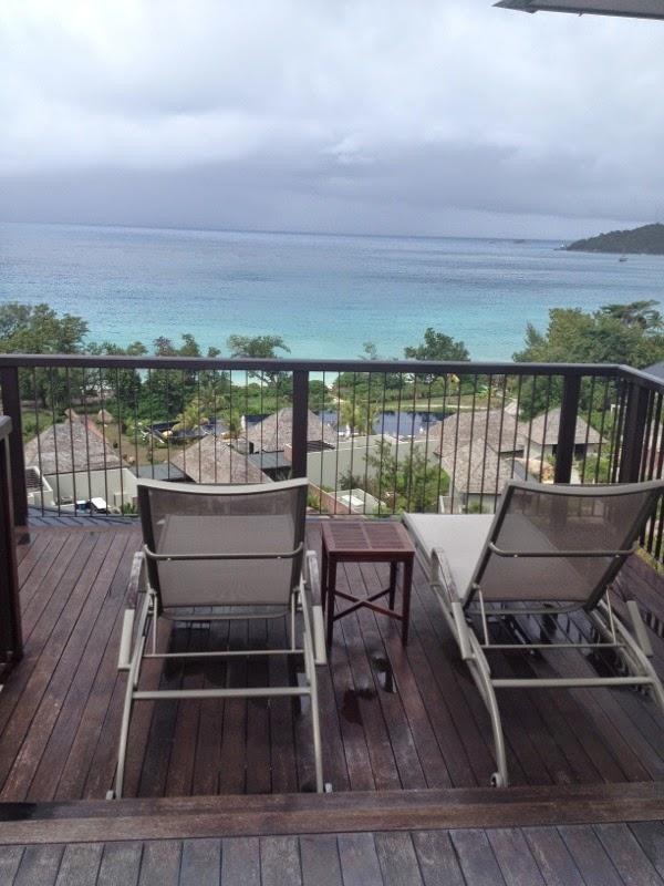 private sunbathing, raffles, praslin - seychelles