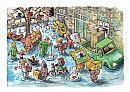 Cartoon pag. 16. Gemeentelijke aansprakelijkheid bij wateroverlast