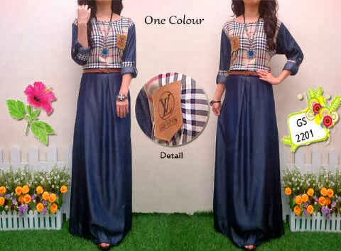 bahan denim kombi katun fit to L