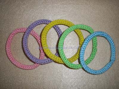 pulseras colores fluor realizadas a crochet