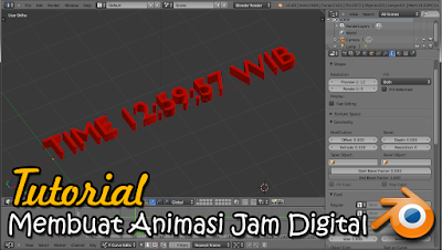 Blender Tutorial Membuat Animasi Jam Digital