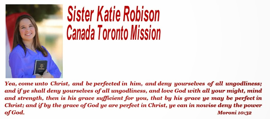 Sister Katie Robison's Missionary Blog