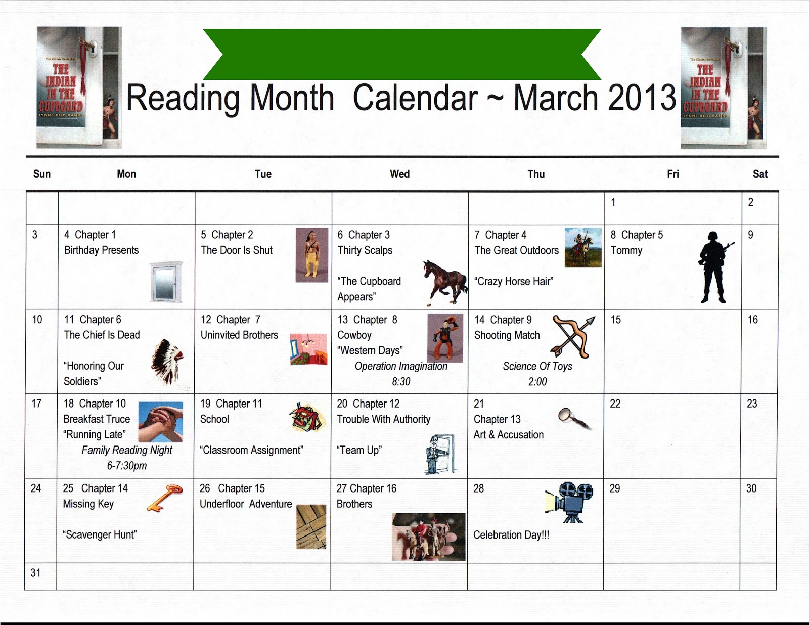 Monthly Reading Calendar : The cozy classroom shout out and a freebie