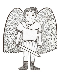guardian angel prayer coloring page - king arthur coloring pages
