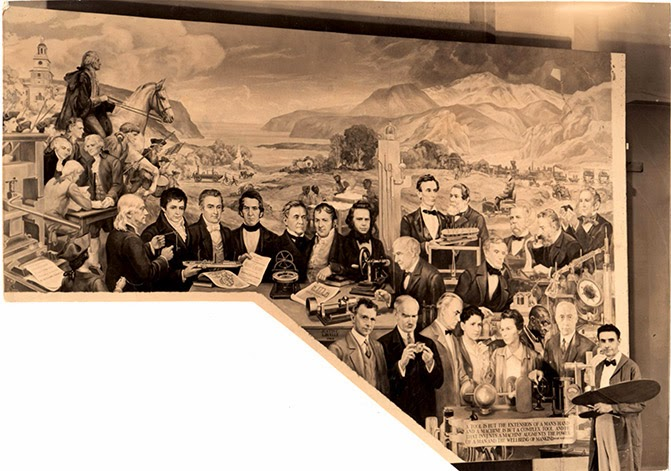 Justin c gruelle their california years and the afterglow for Bank ballroom with beautiful mural nyc