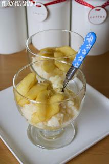 deser ryżowy z jabłkami