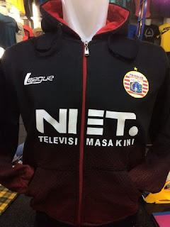 gambar photo kamera Jaket hoodie Persija Net Tv terbaru warna hitam musim 2015/2016 online sport enkosa.com toko online jaket hoodie