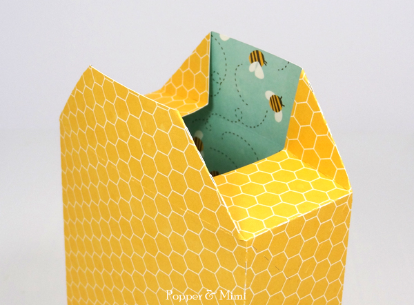 Fold gift bag along perforations | popperandmimi.com