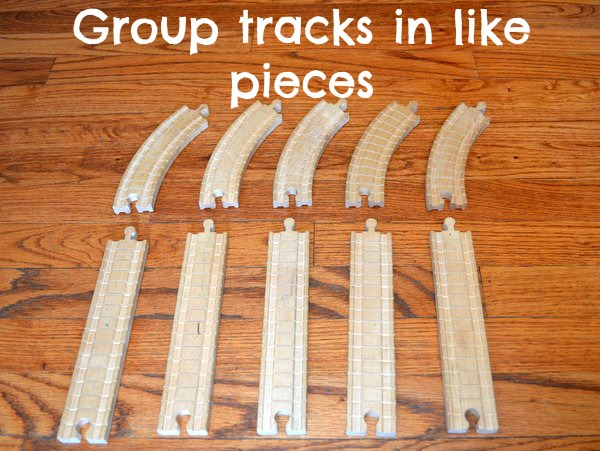playing with train tracks