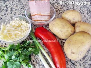 Cartofi umpluti la cuptor ingrediente reteta