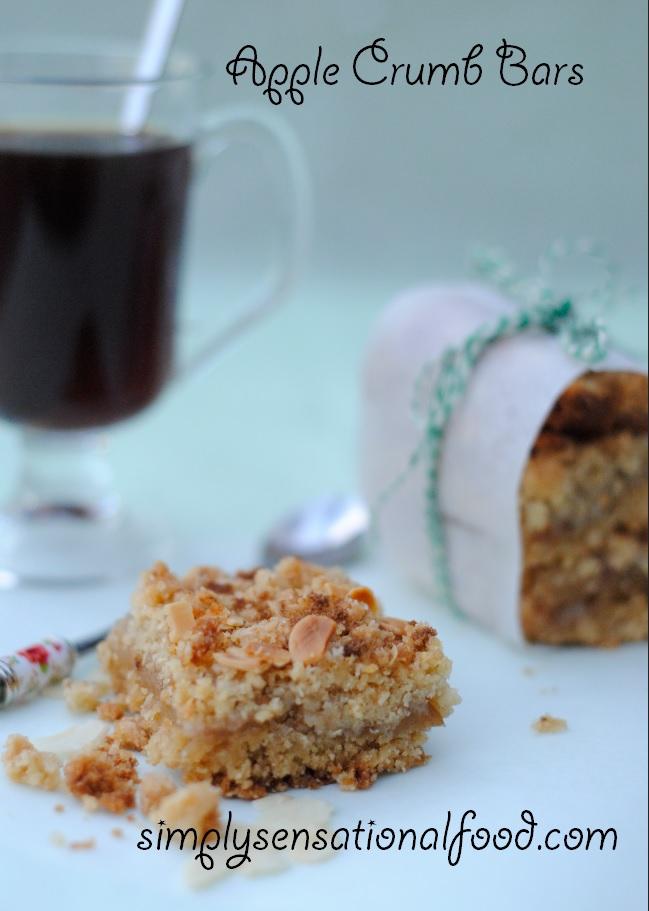 simply food apple crumb bars secret recipe club