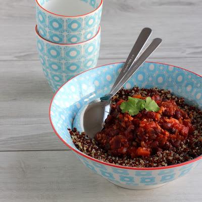 Illustration Quinoa & Azukis façon Chili Sin Carne