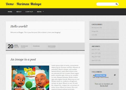 Harimau Malaya Blogger Theme