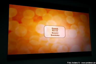 Välj språk DVD-film ombord