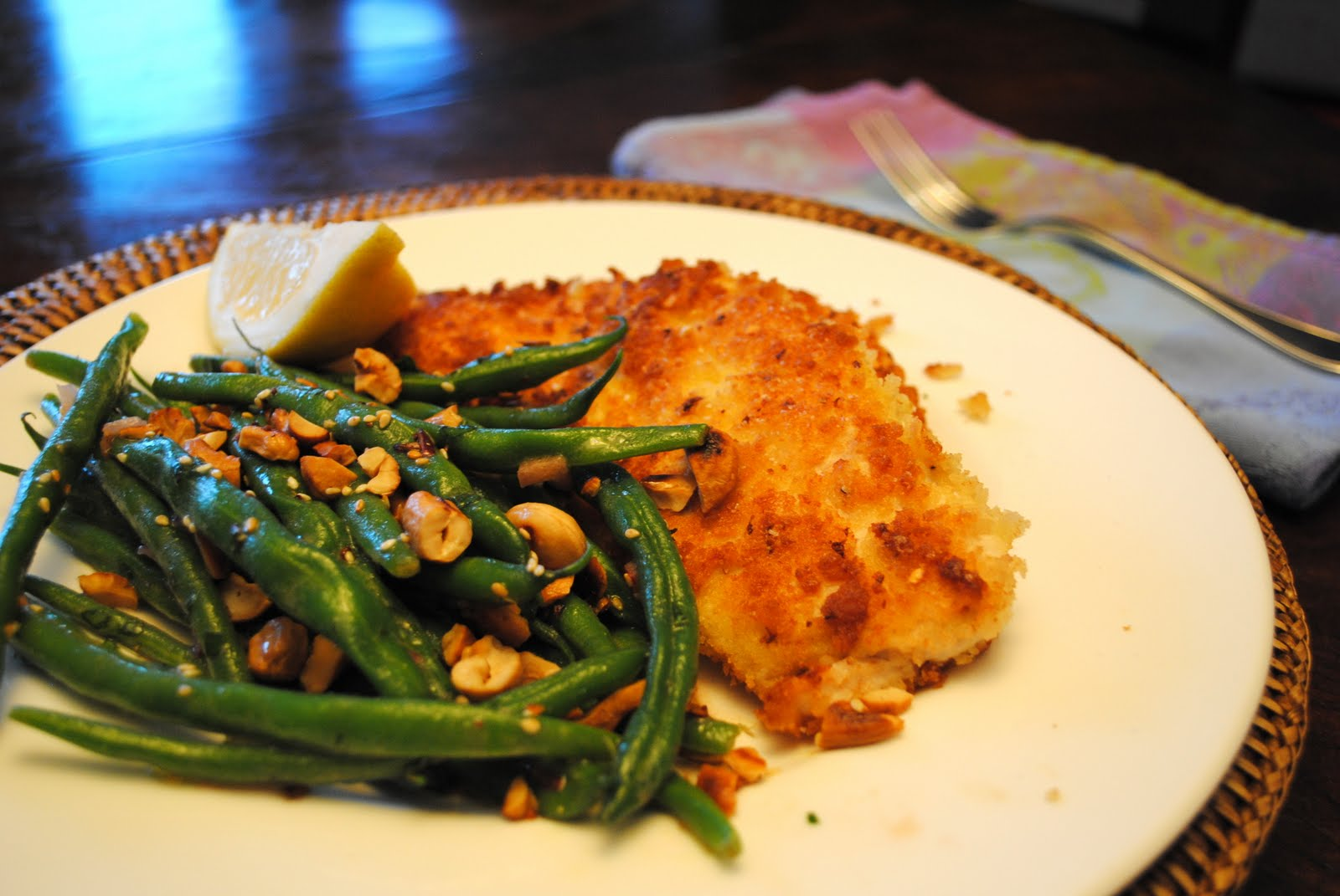 Dorm Room Dinner: Parmesan Panko Chicken Cutlets with Cashew Green ...