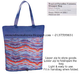 Tropical Paradise Foldable Shopper Bag