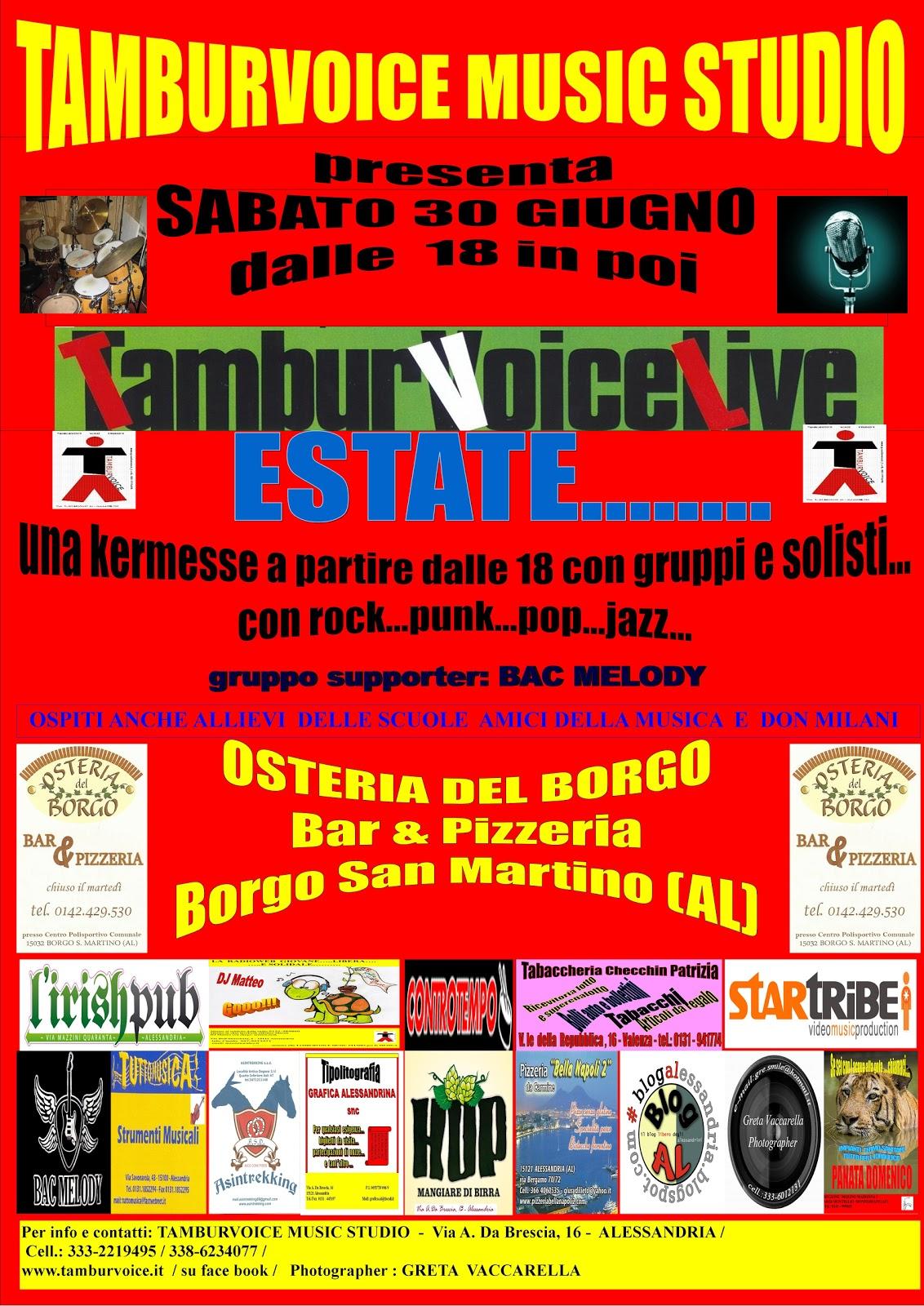 Blogal tamburvoice music studio concertone for Migliori gruppi rock attuali