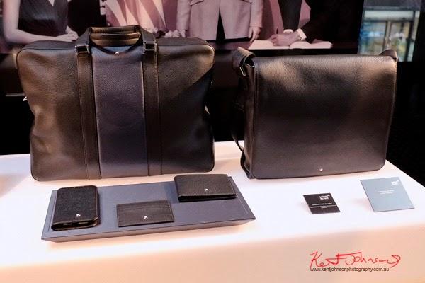Leather travel bag, messenger bag, wallets by Montblanc