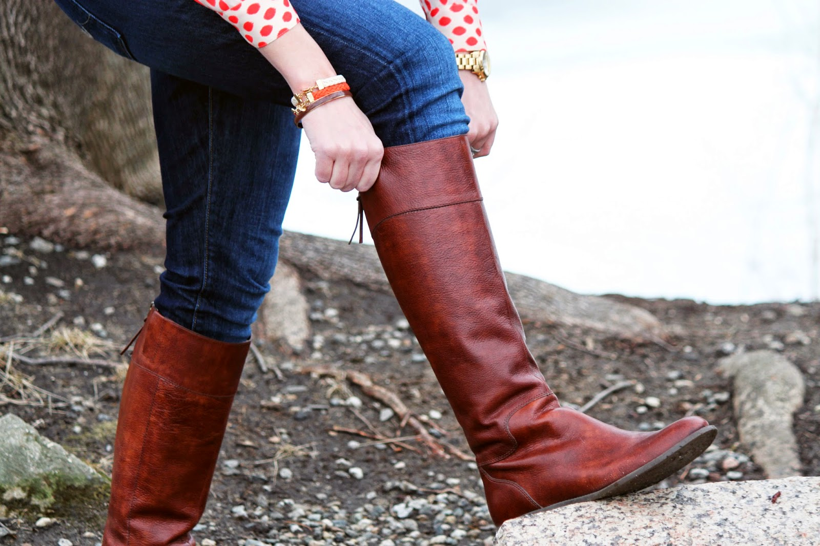 Nine West Counter Riding Boots // The Salty Hanger