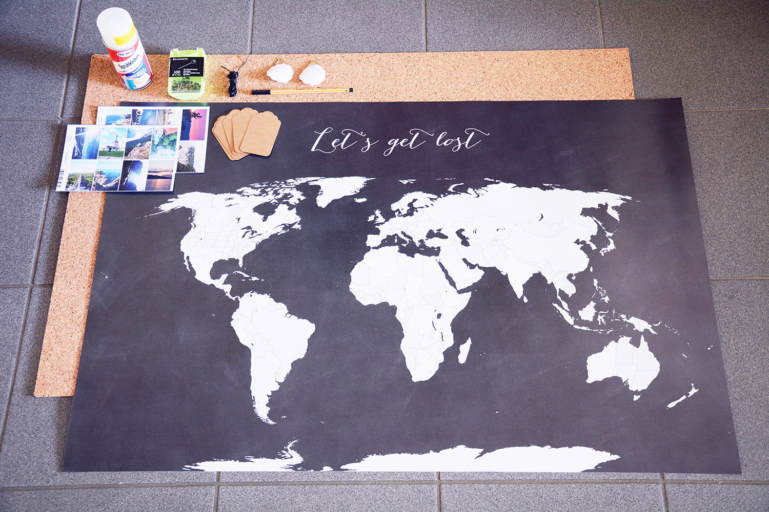 rotkehlchen diy interior tagging a world map with your. Black Bedroom Furniture Sets. Home Design Ideas