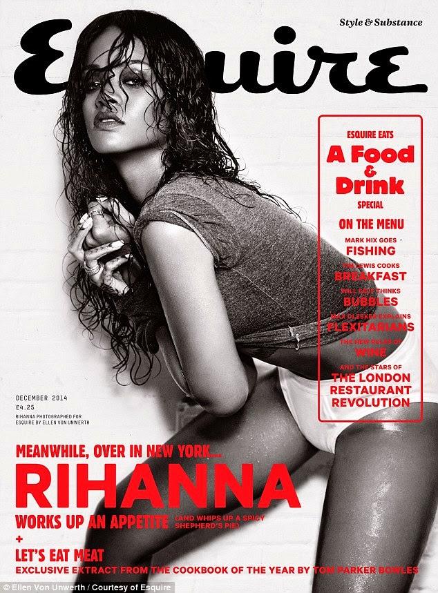 ريهانا تتعرى في صور جريئة لمجلة  Esquire