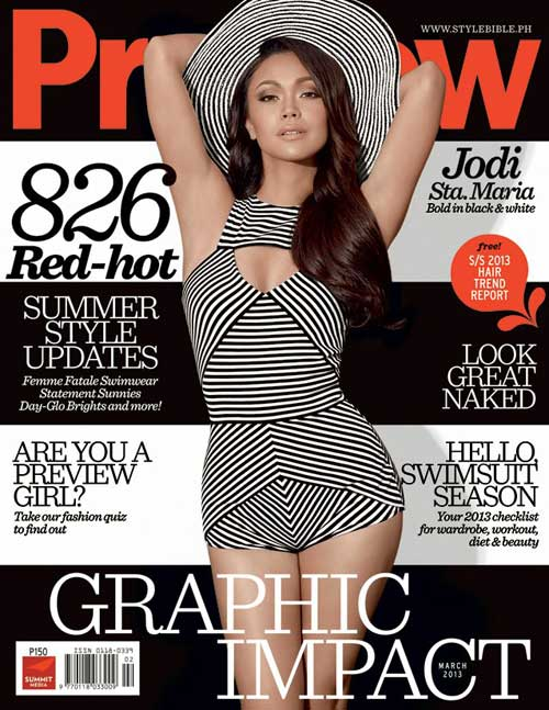 Jodi Sta. Maria Hot on the Cover of Preview March 2013 Issue