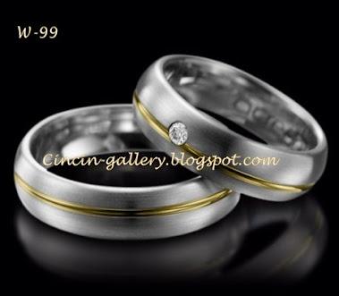 cincin kawin palladium masing masing 5 grm