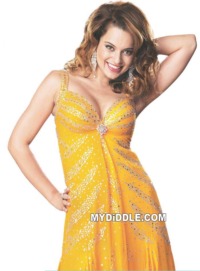 , Kangana Ranaut In A Yellow Dress