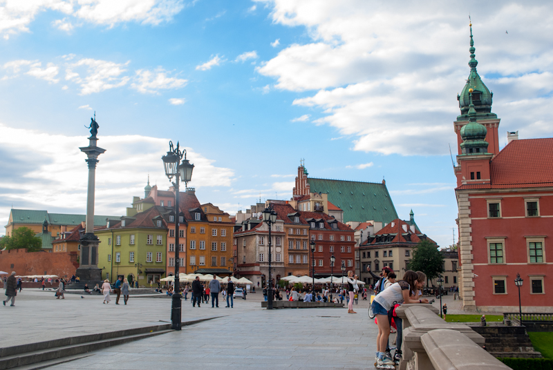 Castle square picture in warsaw poland
