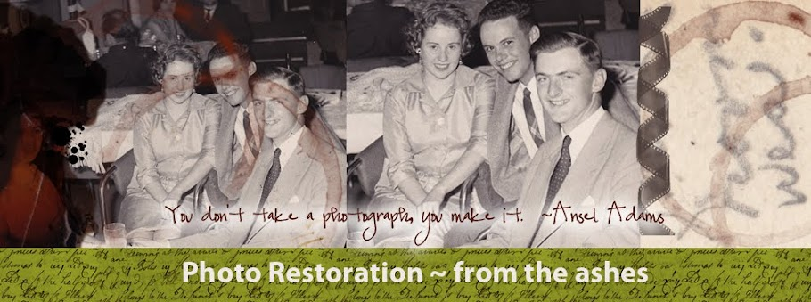 photo restoration ~ from the ashes...