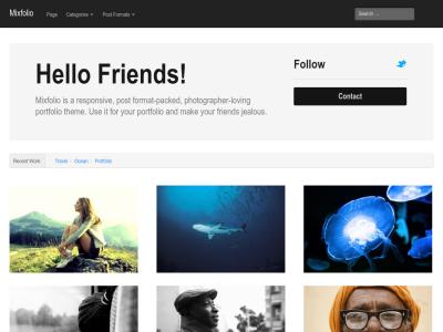 Mixfolio  Wordpress Theme