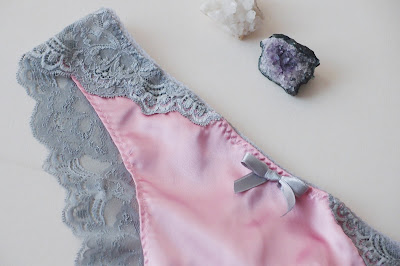 Valentine's 2016 satin lace brazilian cut knickers by bonboneva