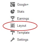 Chose Layout option from right sidebar
