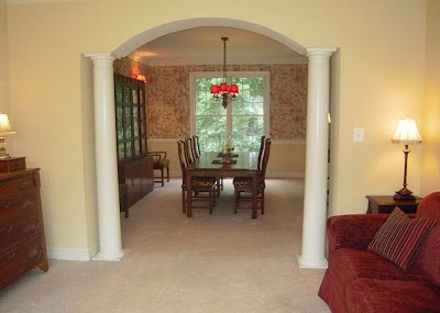 How to stylishly divide a common for Hall and dining area designs