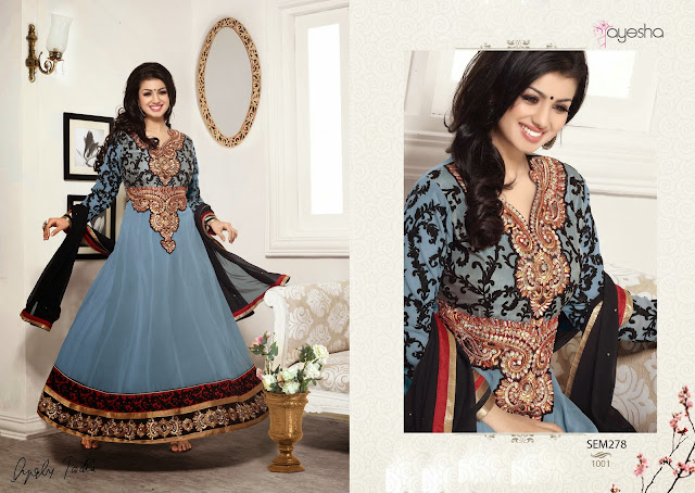 Ayesha Takia Neck Designer Long Length Anarkali Suit