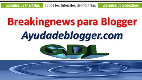 Como insertar un Headline de Noticias con un solo widget en blogger
