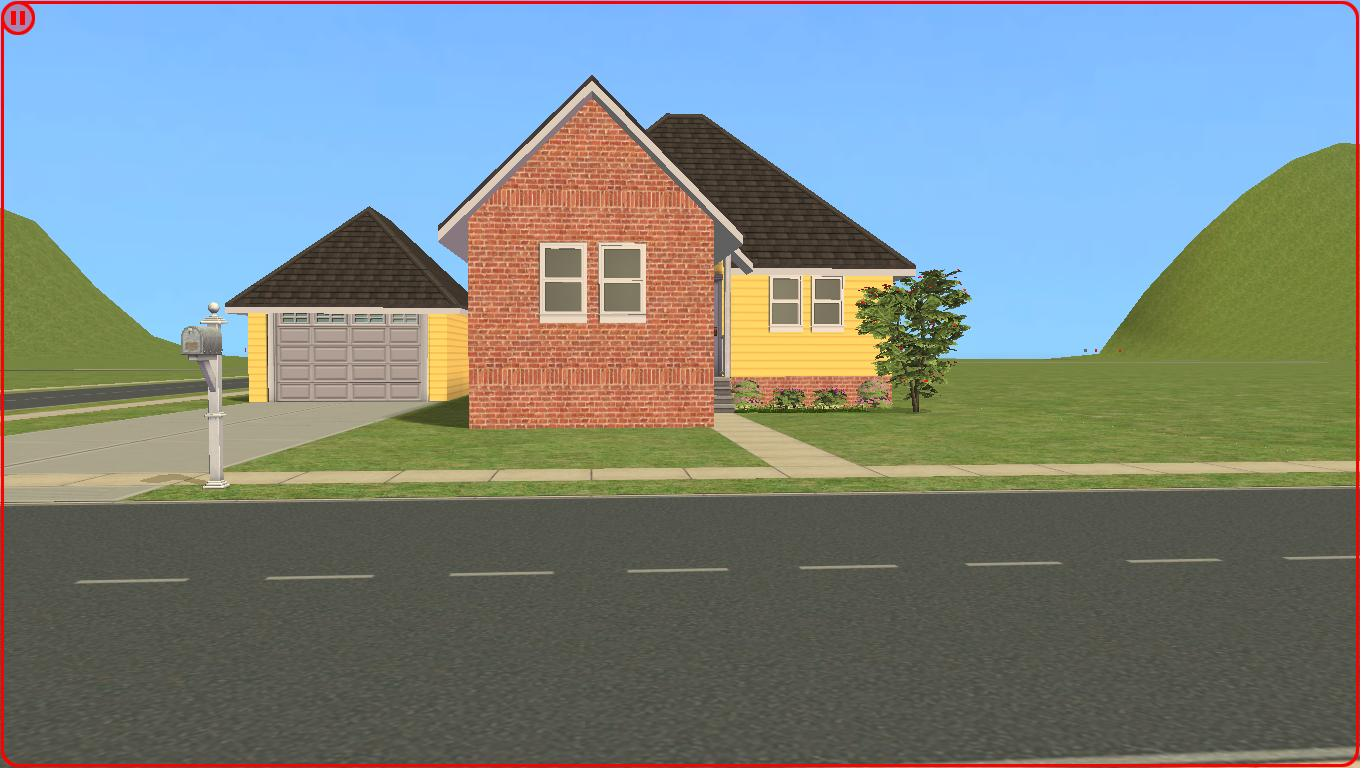 Sims 2 Lot Downloads Yellow Starter House