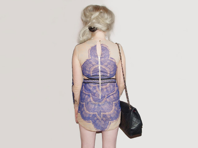 Sammi Jackson - Blue Lace Dress