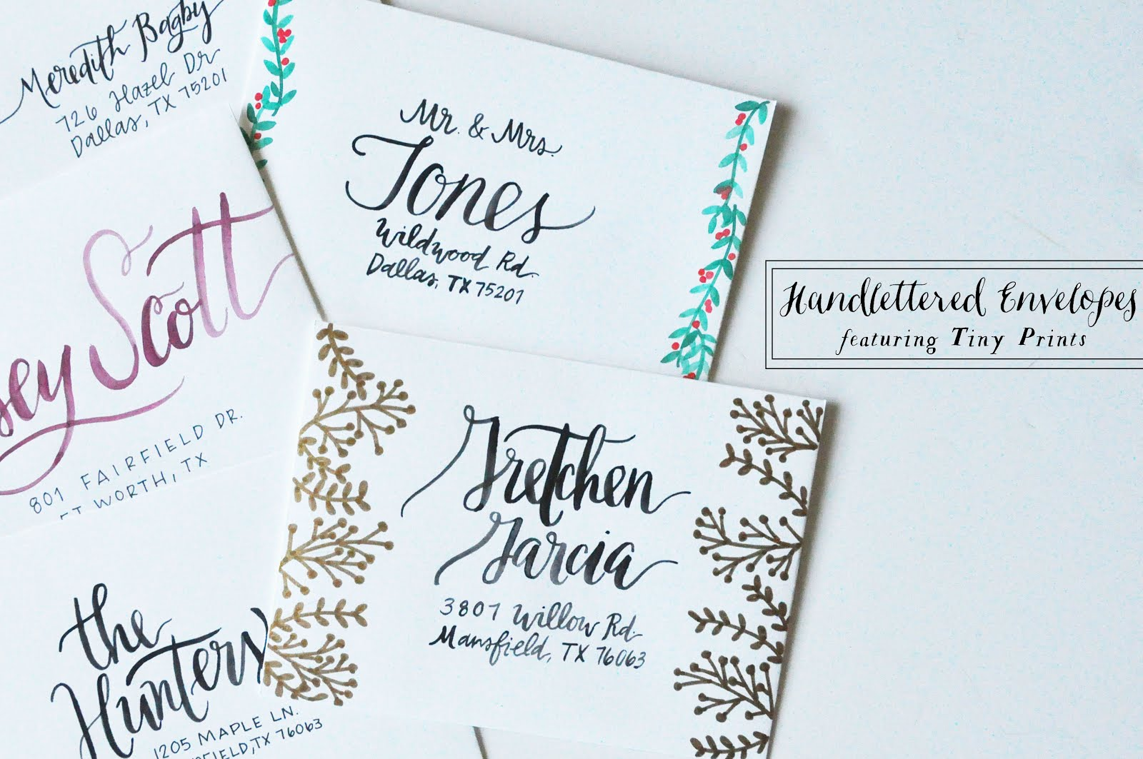 Pie N\' the Sky: Hand Lettered Envelopes | featuring Tiny Prints